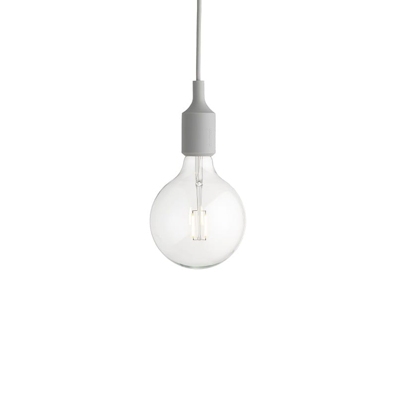 Suspension Muuto E27 led gris clair