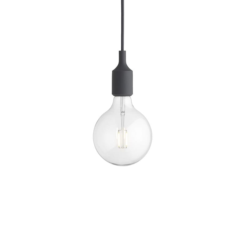 Suspension Muuto E27 led gris foncé