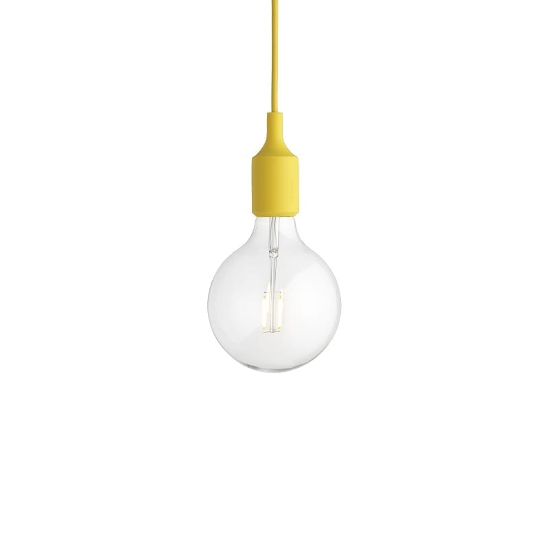 Suspension Muuto E27 led jaune
