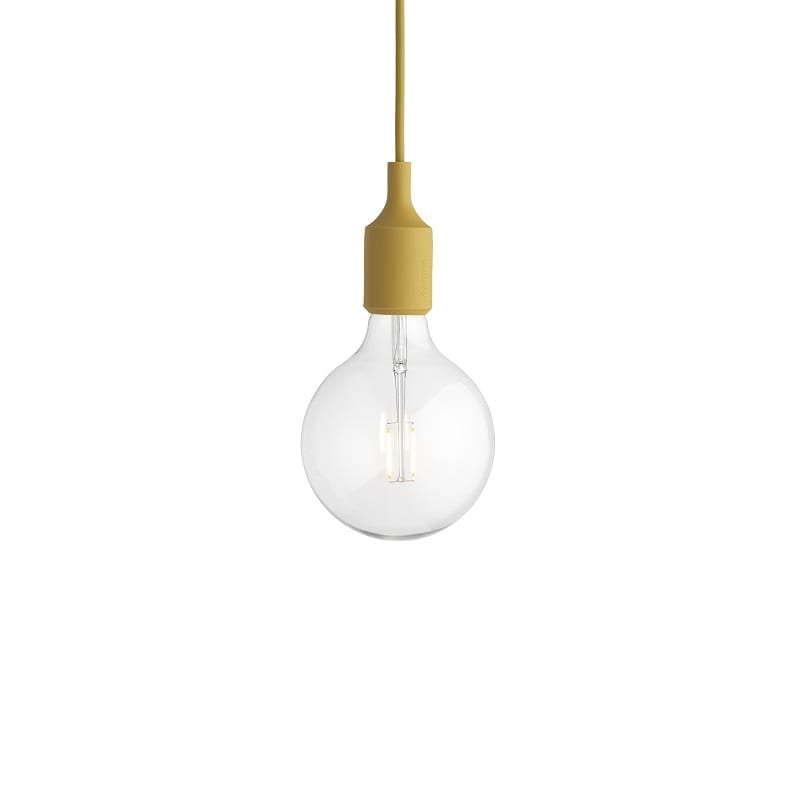 Suspension Muuto E27 led moutarde