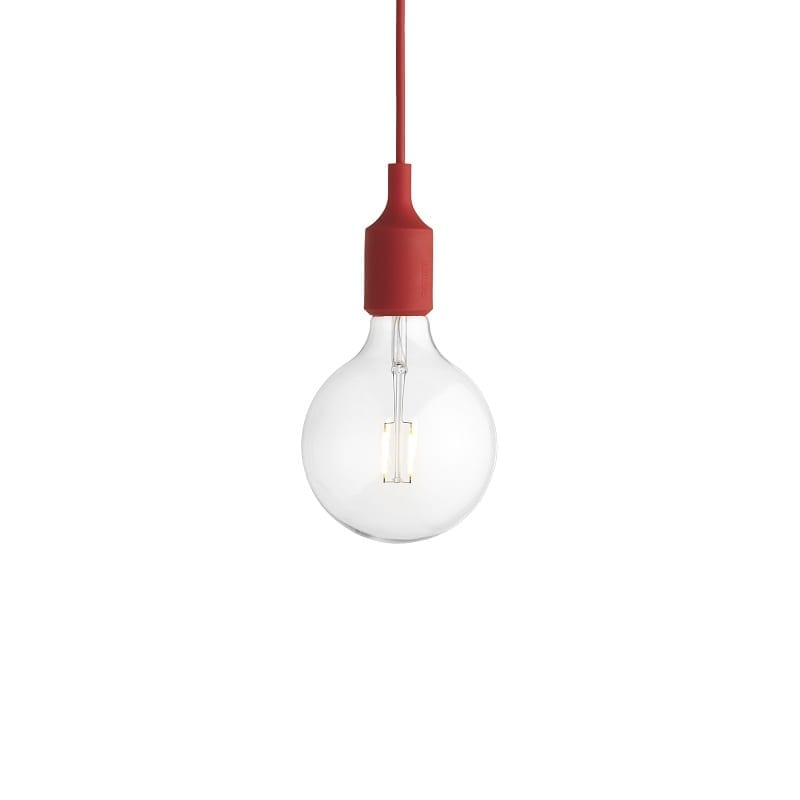 Suspension Muuto E27 led rouge