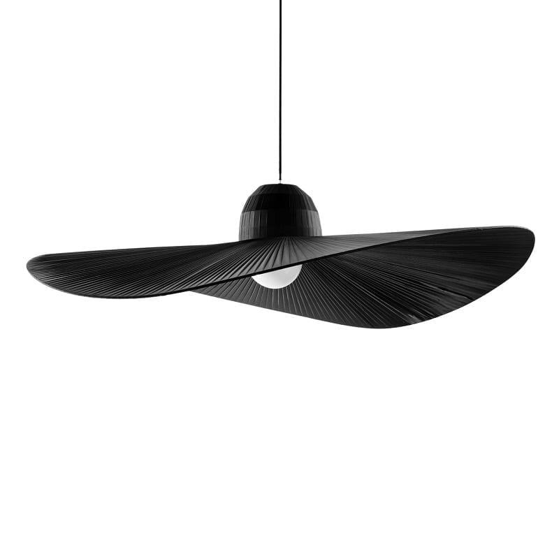 Suspension chapeau Madame noire diamètre 110 cm – Idéal lux