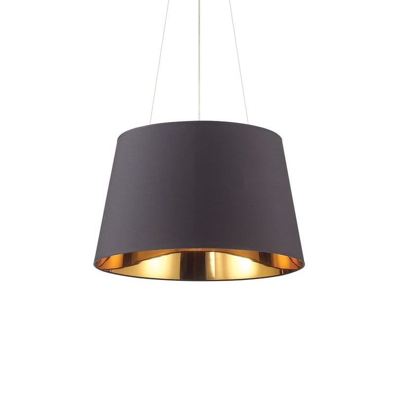 Suspension contemporaine noire Nordik 4 lumières