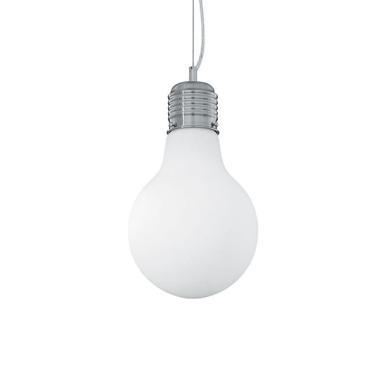 Suspension forme ampoule blanche Luce petit modèle