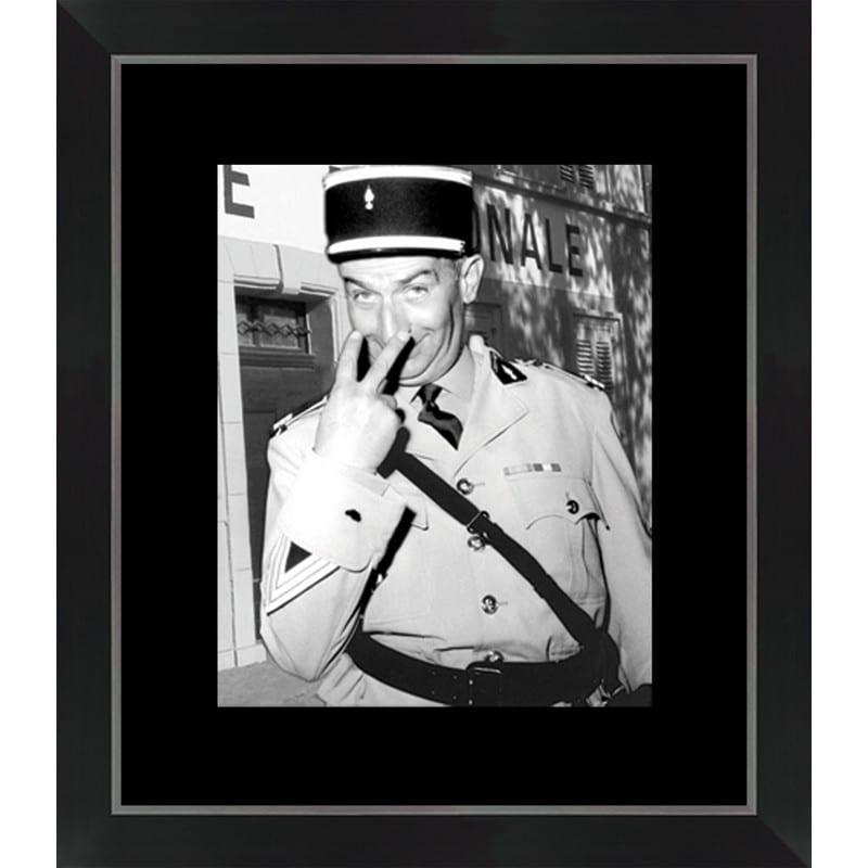 Tableau Le gendarme de St Tropez – 40×46 cm – Cadr'aven