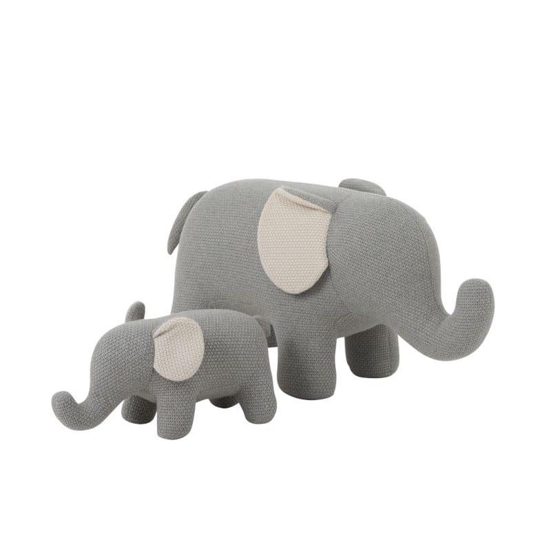 Elephant en coton écru et gris – Jolipa