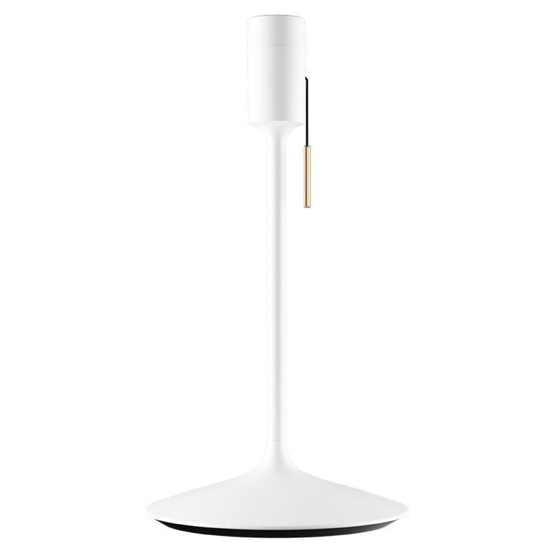 Pied de lampe Champagne avec prise USB blanc