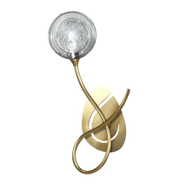 Applique Priam 1 lumière bruni verre S100
