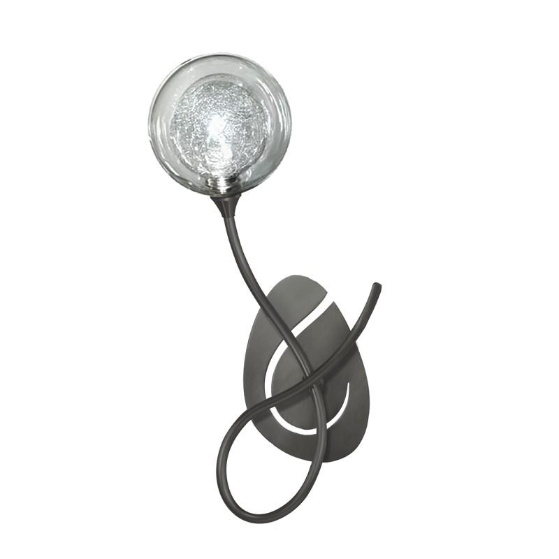 Applique Priam 1 lumière graphite verre S100