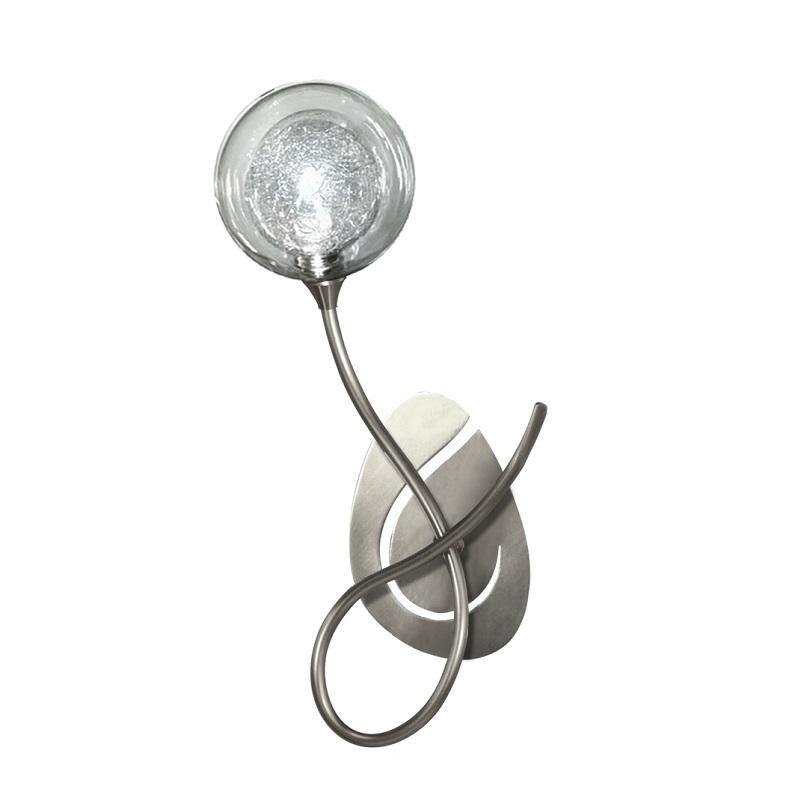 Applique Priam 1 lumière nickel verre S100