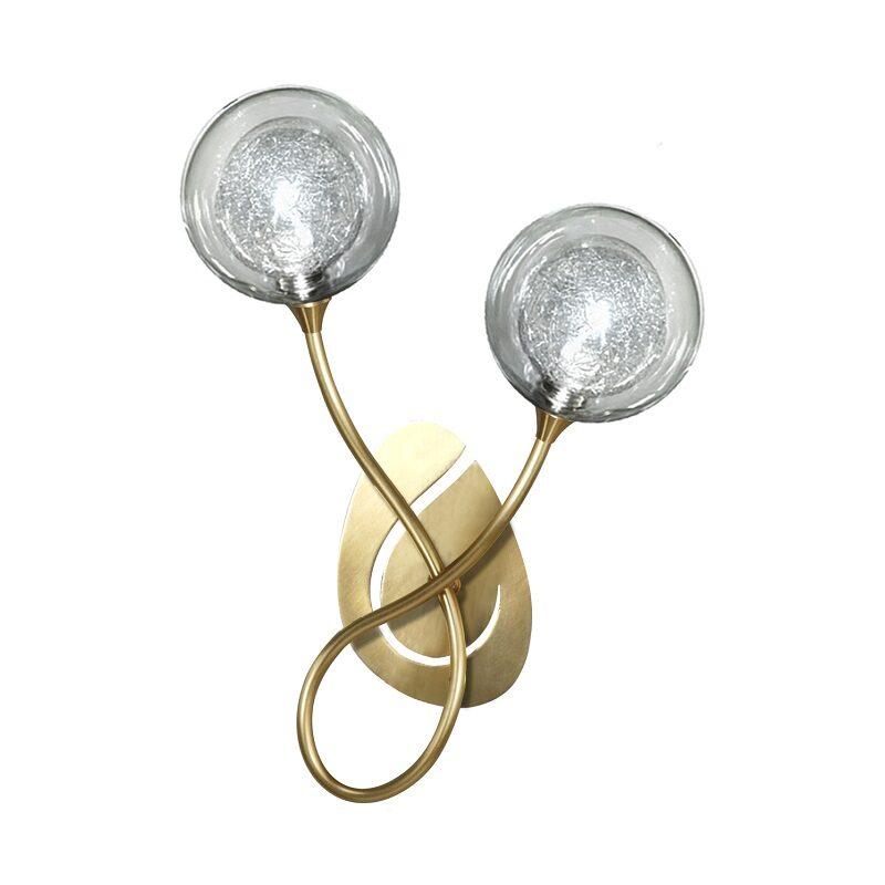 Applique Priam 2 lumières bruni verre S100