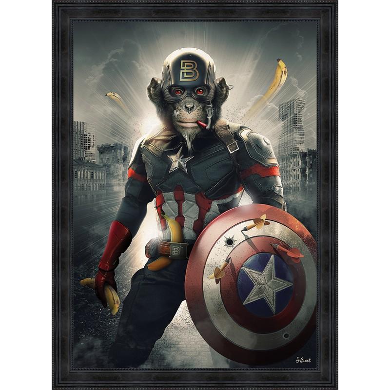 Tableau Captain America 80 x 120 cm