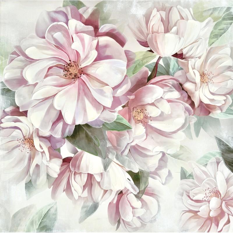 Toile florale 80x 80 cm