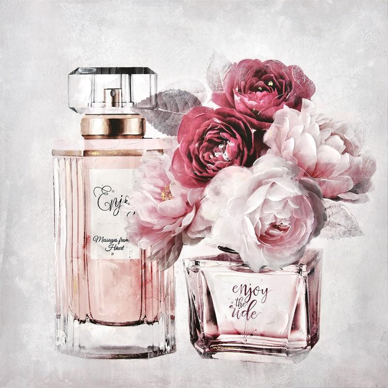 Toile Parfum et fleurs
