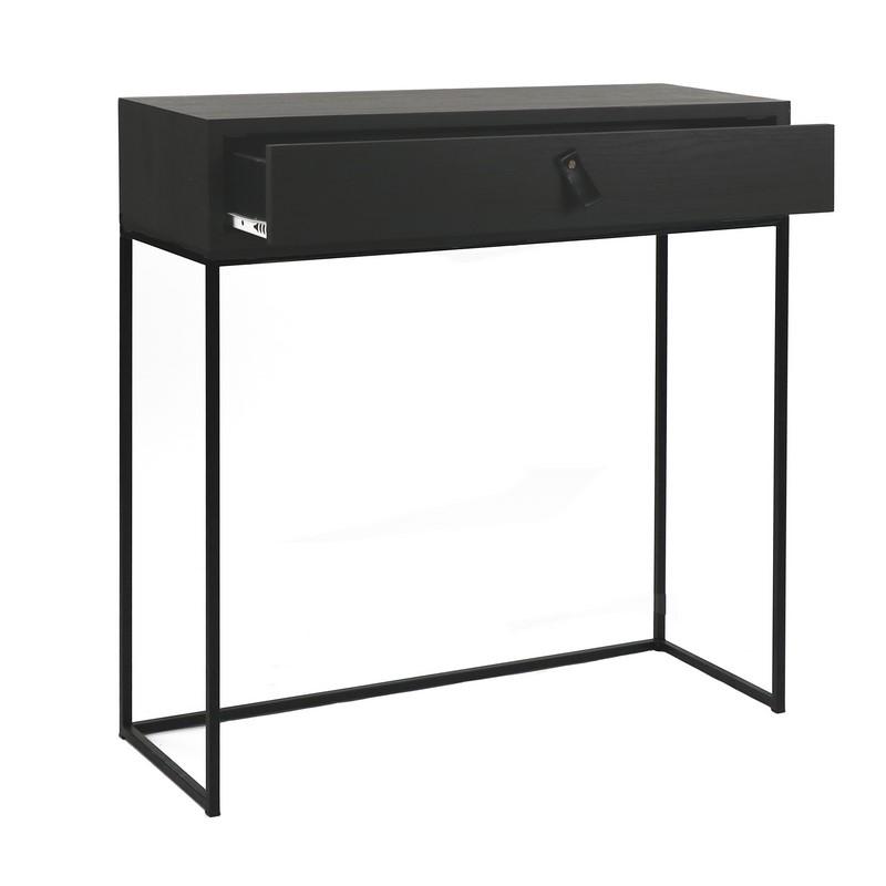 Console Tokio noire avec tiroir