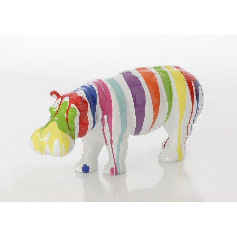 Hippopotame trash blanc pour l'extérieur