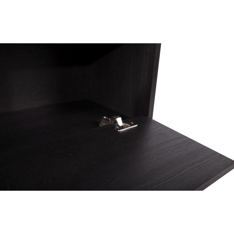 Meuble Tokio noir avec placard