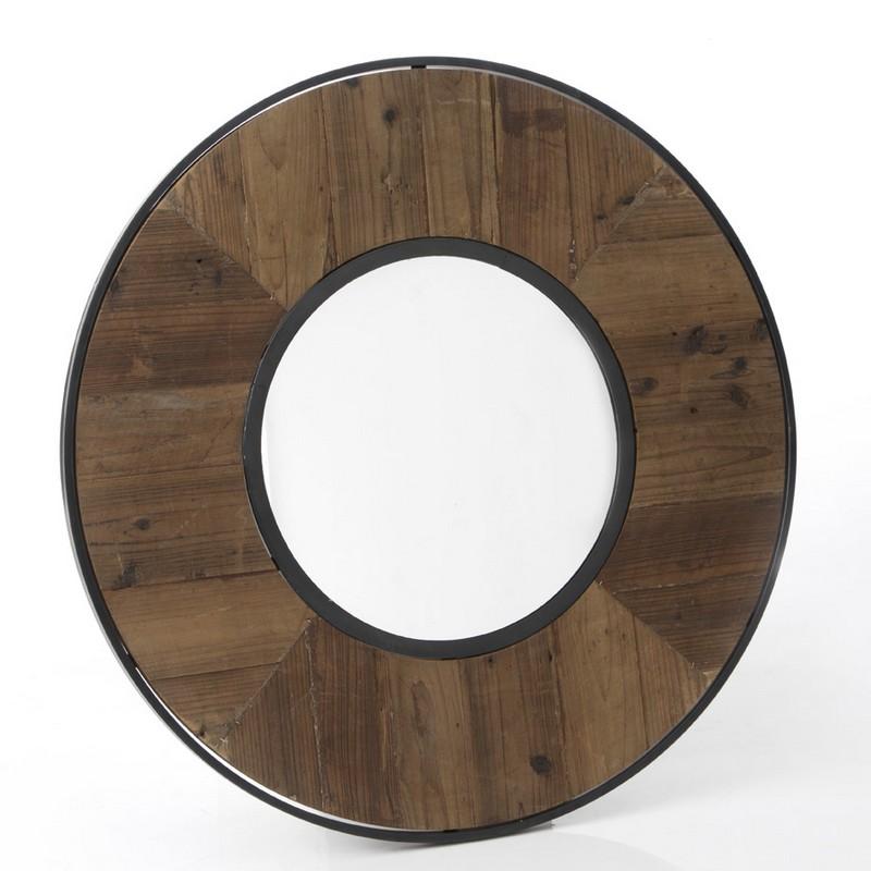 Miroir Canada en bois recyclé