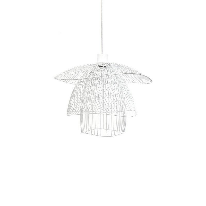 Suspension Papillon blanche Elise Fouin d.56 cm Forestier