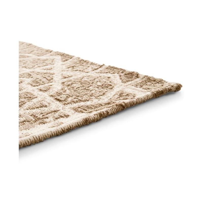 Tapis Arabia marron et écru 200 x 300 cm