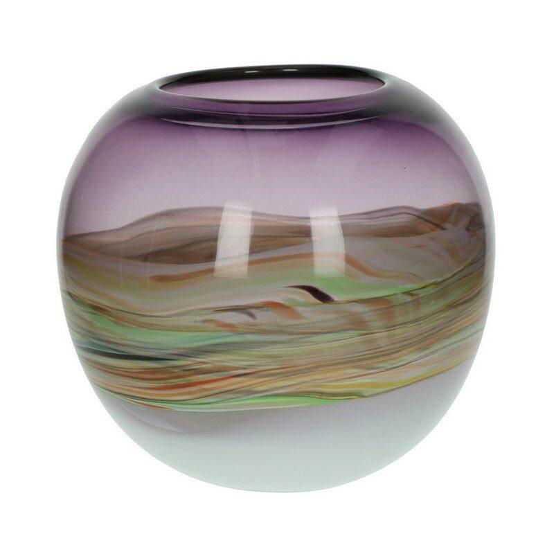 Vase Towy en verre pourpre