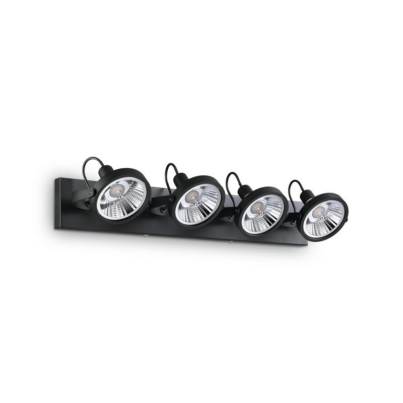 Applique spot Glim noire 4 lumières