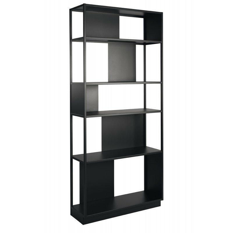 Bibliothèque Arlequin noire 90 cm