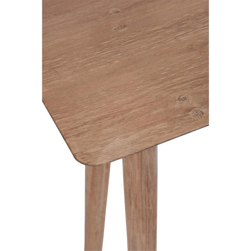 Console métal et bois naturel 120 cm
