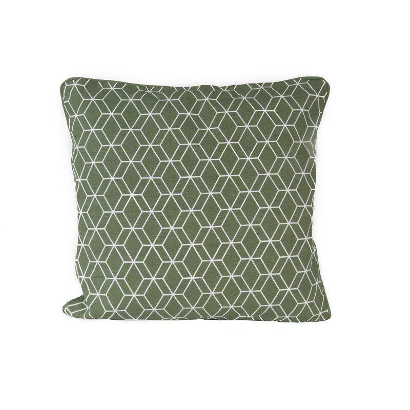 Coussin Hexagon vert