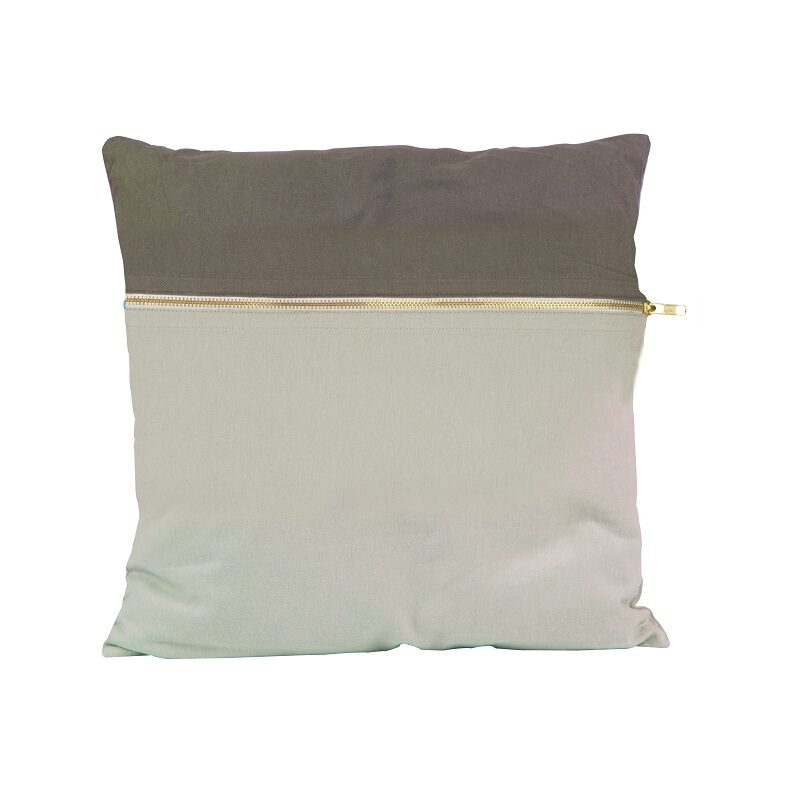 Coussin Duo tone gris