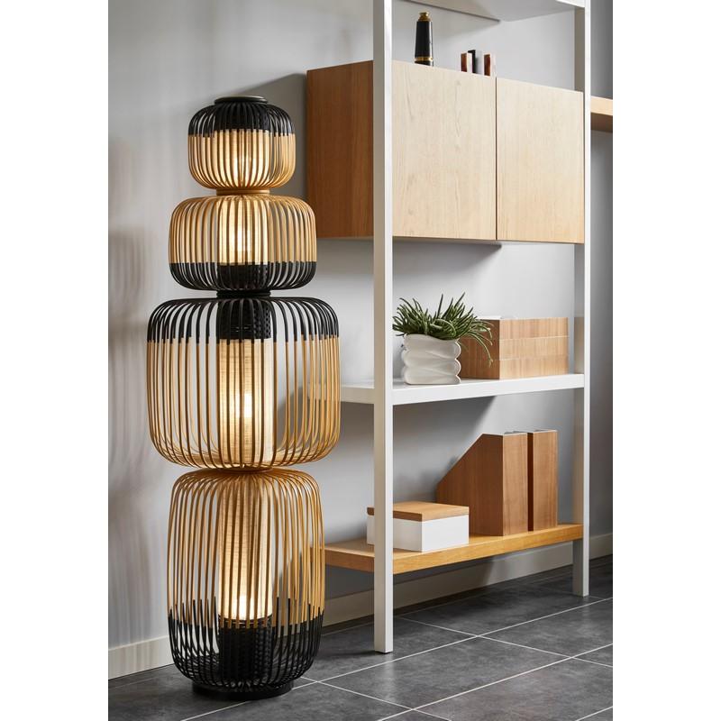 Lampadaire Bamboo light  noire 4 lumières