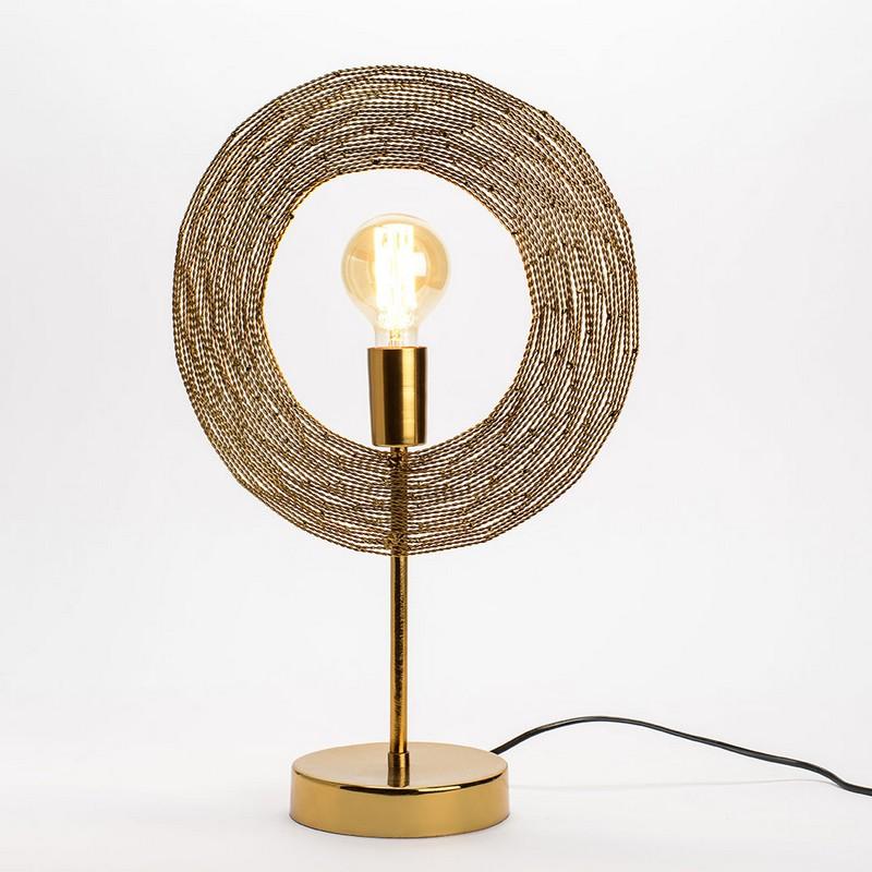 Lampe à poser Osiris dorée