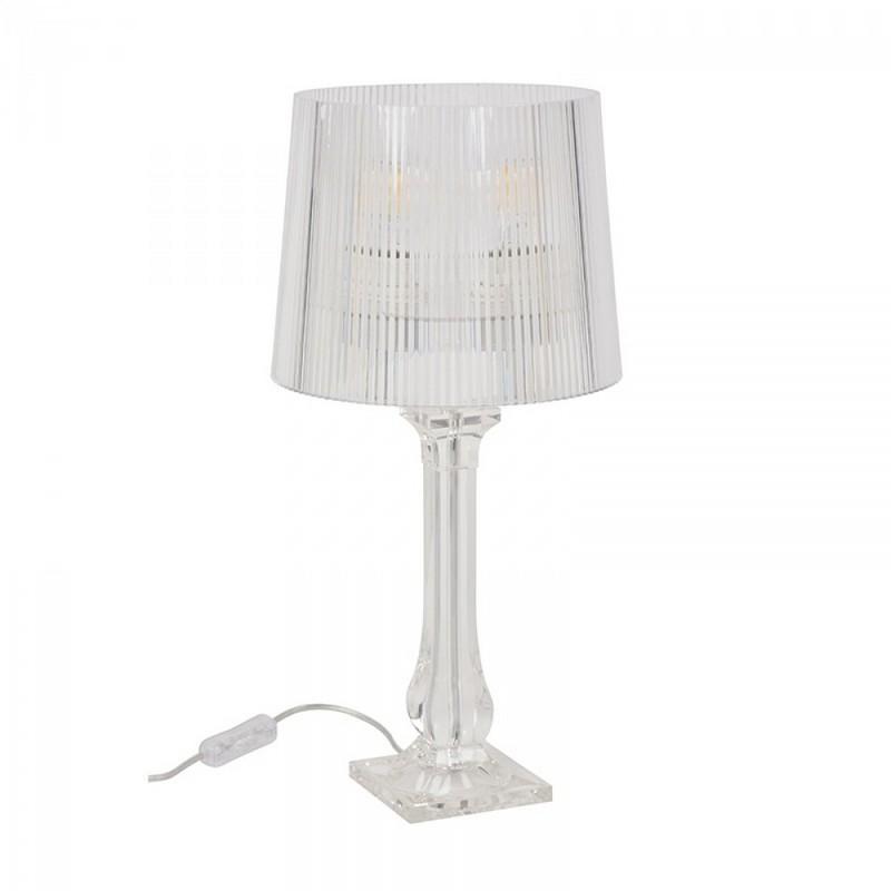 Lampe à poser Amourette transparente 35 cm