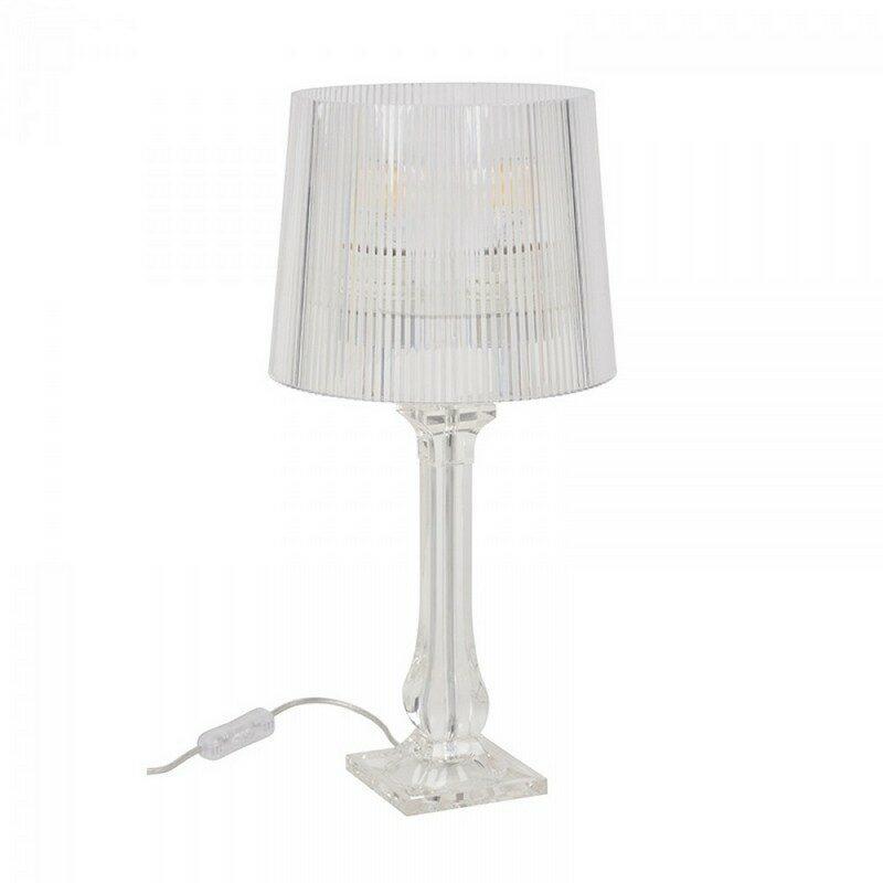 Lampe à poser Amourette transparente 51 cm