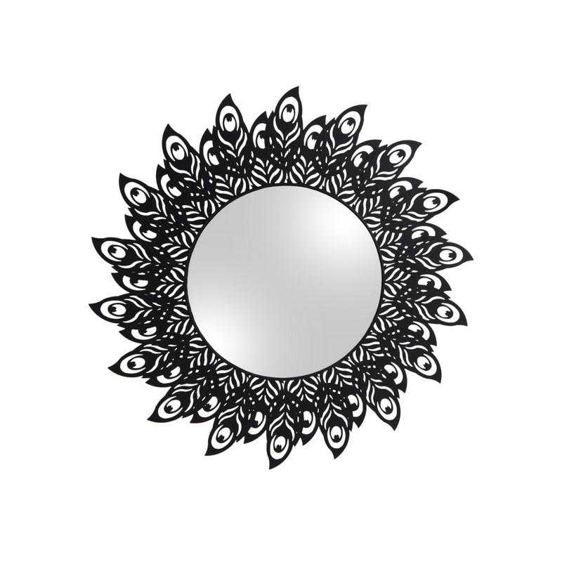 Miroir Plume de Paon noir