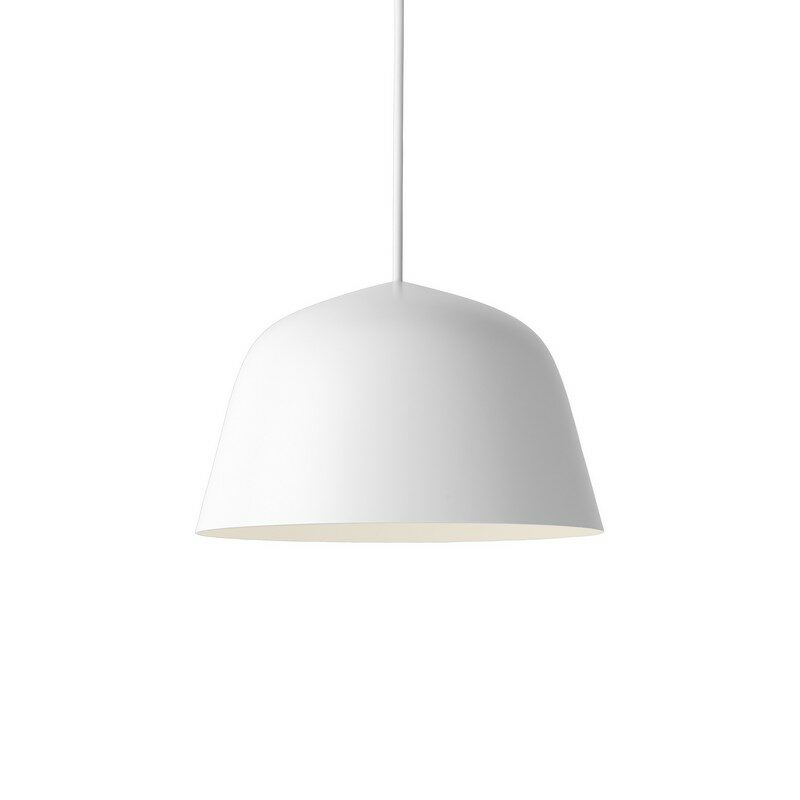 Suspension coupole design Ambit blanche 25 cm – Muuto