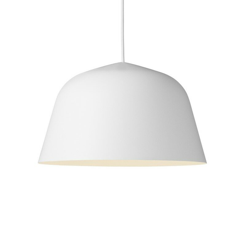 Suspension coupole design Ambit blanche 40 cm – Muuto