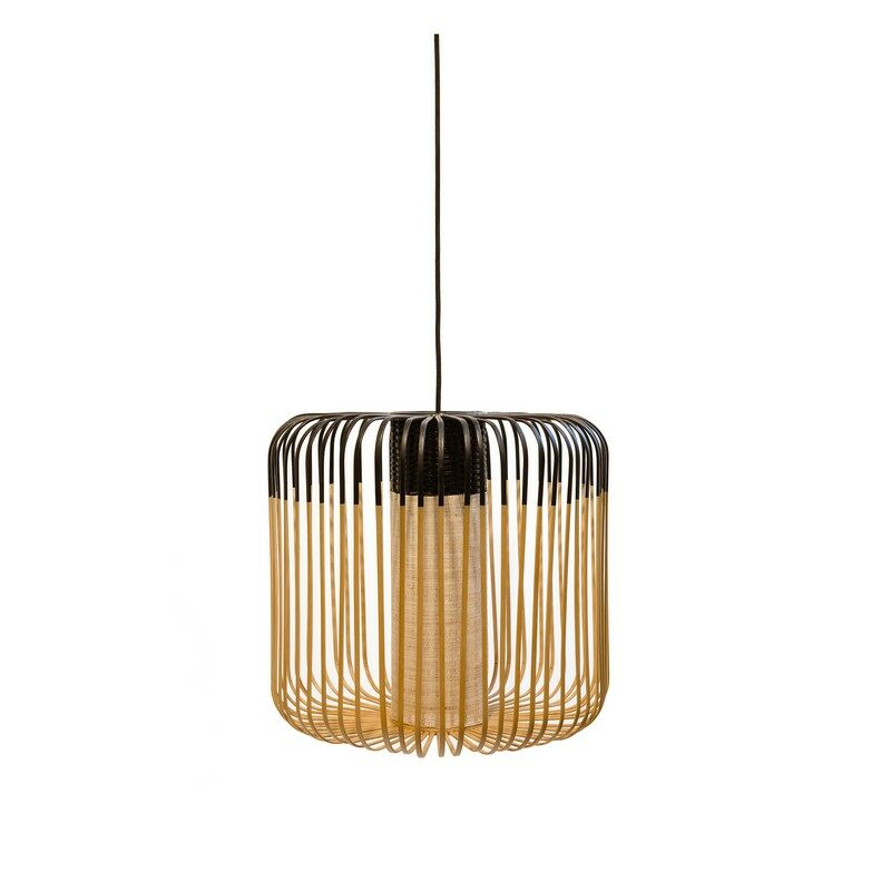 Suspension Bamboo light medium noire d.45 cm – Forestier
