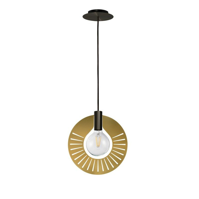 Suspension Halo graphite 1 lumière décor 310 ray satiné