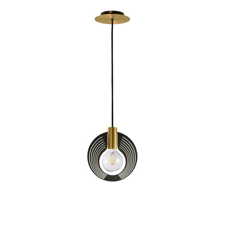 Suspension Halo satiné 1 lumière décor 225 echo graphite