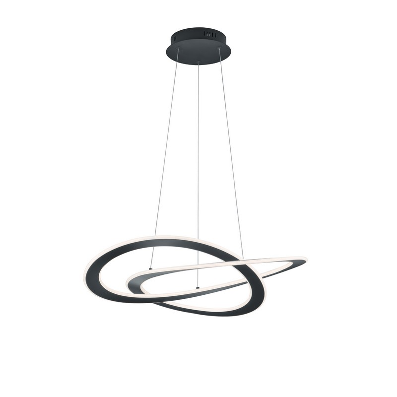 Suspension Oakland led gris anthracite
