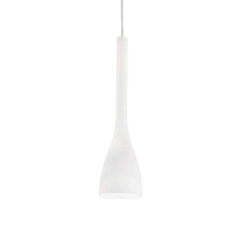 Suspension en verre Flut blanche 1 lampe small – Idéal lux