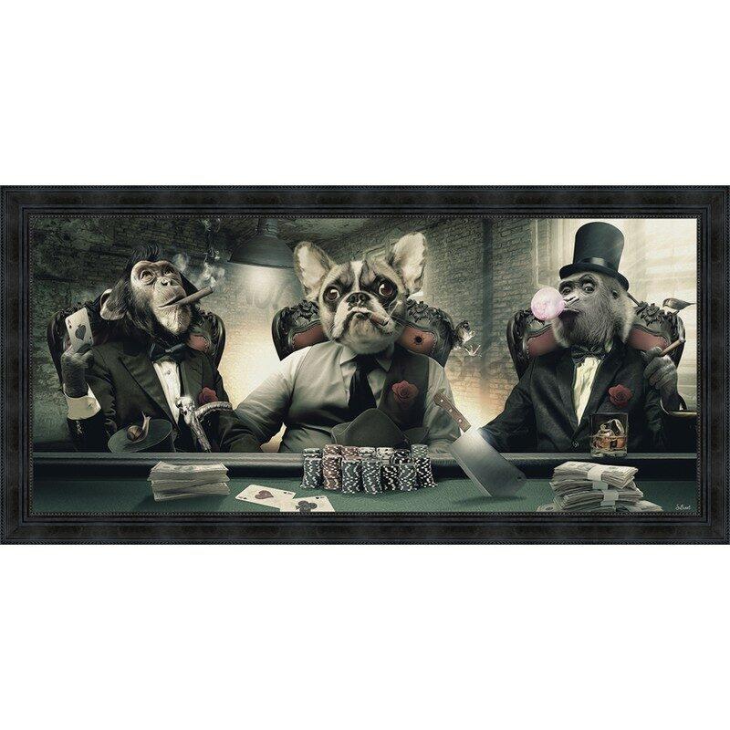 """Tableau """"Poker"""" 76 x 153 cm sans verre"""