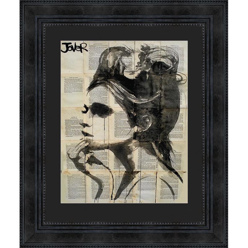 Tableau portrait de femme 52 x 62 cm