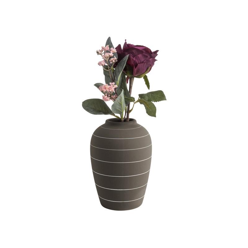 Vase Terra marron foncé 18.5 cm