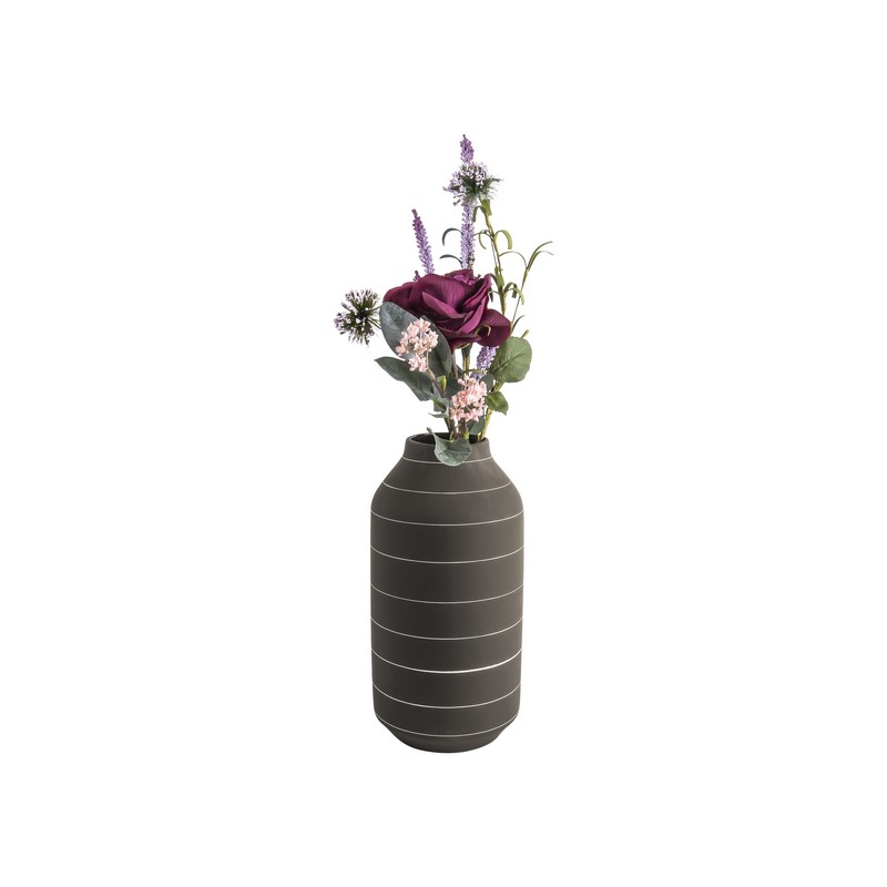 Vase Terra marron foncé 30 cm