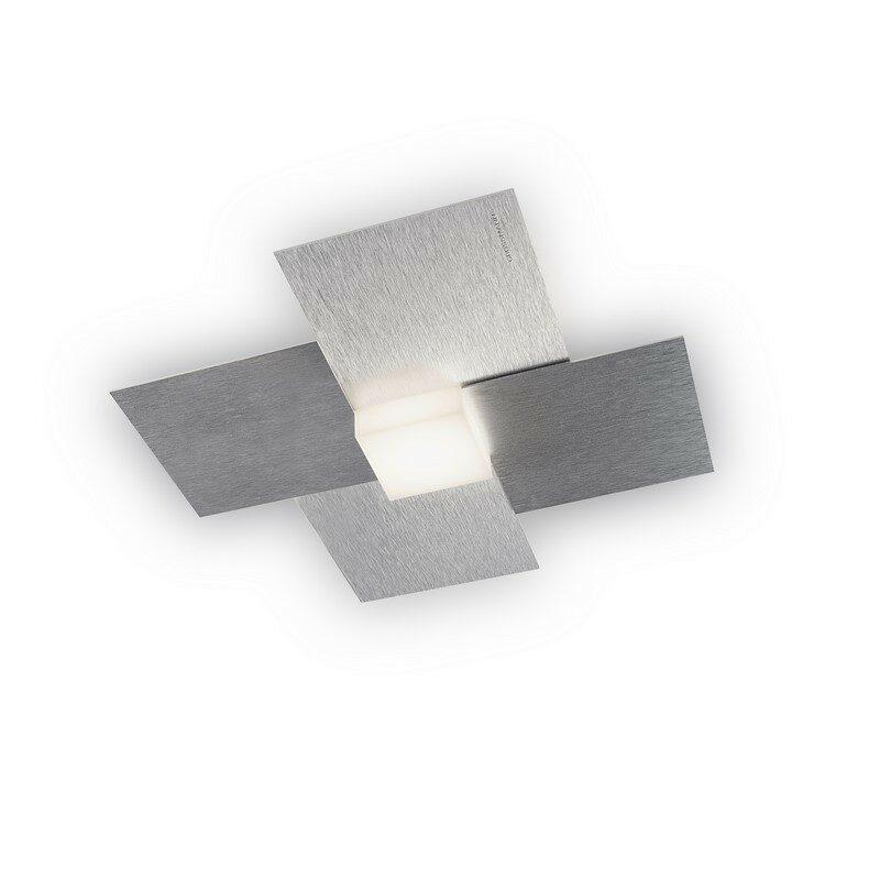 Applique Grossmann Créo 1 lumière aluminium brossé