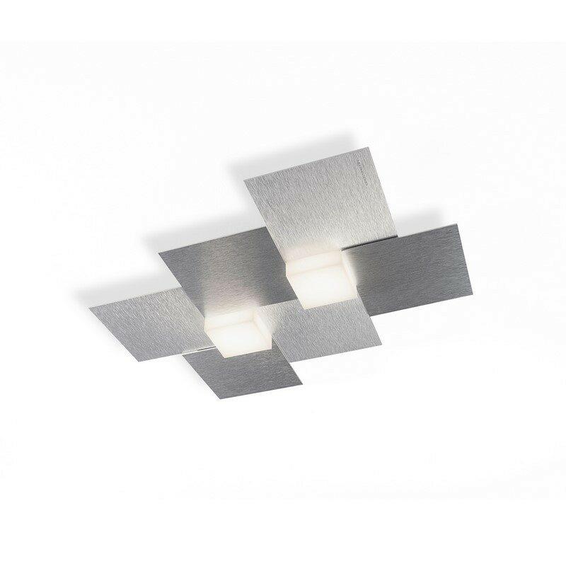 Applique Grossmann Créo 2 lumières aluminium brossé