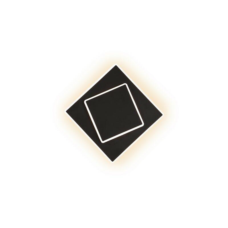 Applique LED noire Dakla 18 cm