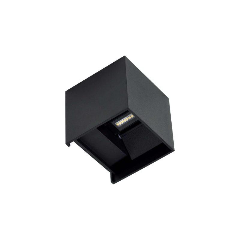 Applique extérieure cube LED noir Lek IP65